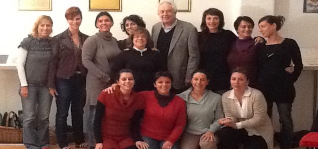 A Milano il 13 ottobre nell'ambito del Percorso ISPPE 2013, le allieve hanno seguito il seminario con il Dott. Michel Odent