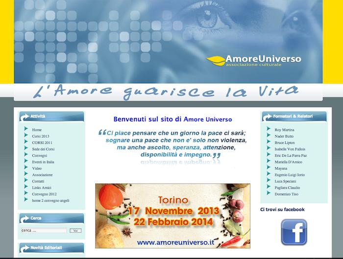 home page amoreuniverso